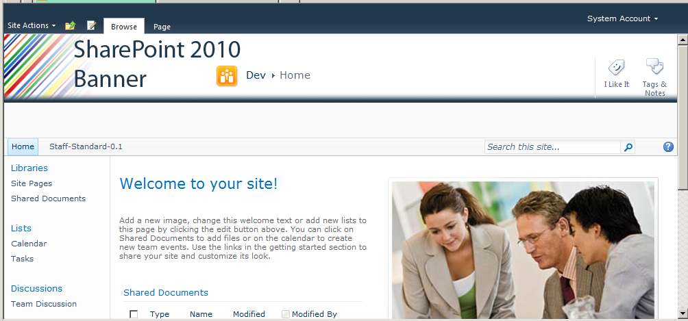 Add A Banner To Sharepoint 2010 Blog Alex Pearce Office 365 Mvp