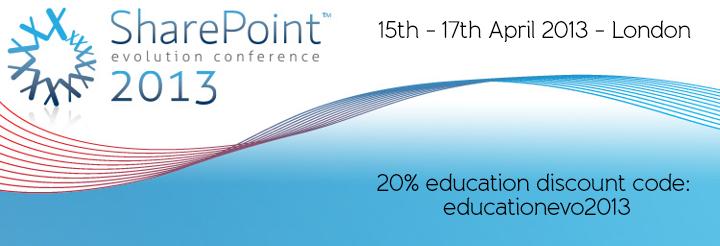 I'm Speaking at SharePoint Evolution Conference 2013